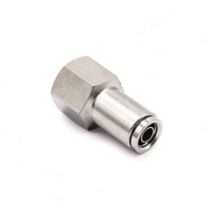 """3/8"""" NPT(F) to 3/8"""" Air Line Push Connect Straight Fitting DOT"""