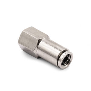 """1/4"""" NPT(F) to 3/8"""" Air Line Push Connect Straight Fitting DOT"""