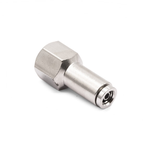 """1/4"""" NPT(F) to 1/4"""" Air Line Push Connect Straight Fitting, DO"""